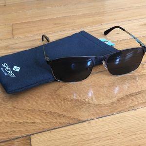 Sperry Accessories - Sperry Matte Navy & Silvertone Whitecap Sunglasses